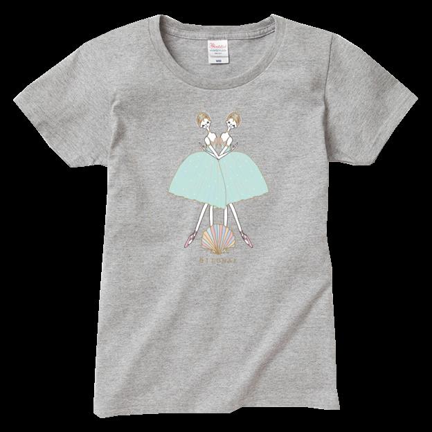 海と真珠 Tシャツ(レディース) - 画像3