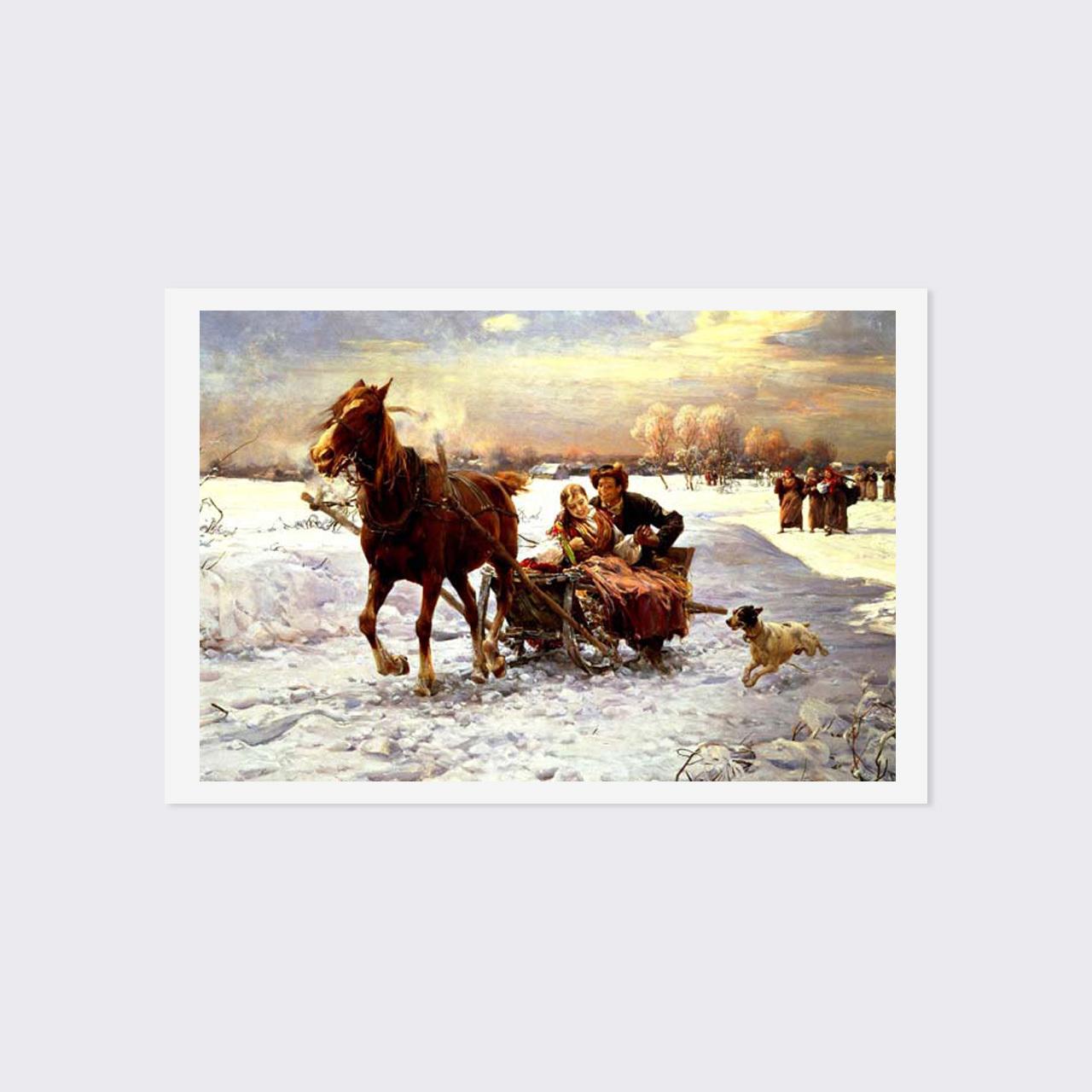 ヨハンスン ポストカード 「静かな夜(サイレントナイト)」