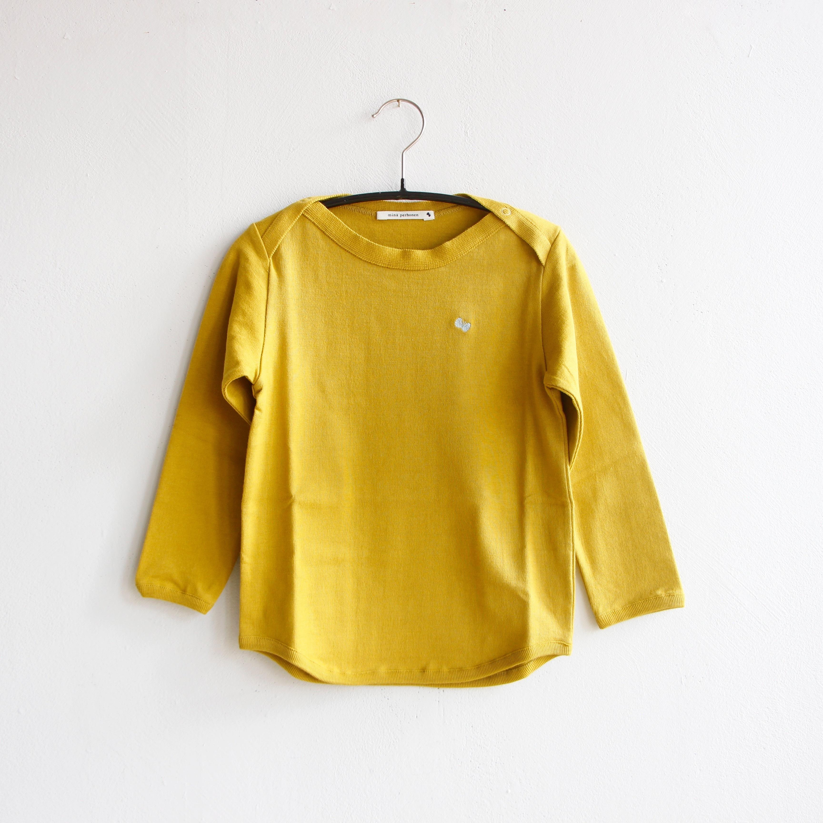 《mina perhonen 2020AW》zutto 長袖カットソー / mustard / 80-100cm