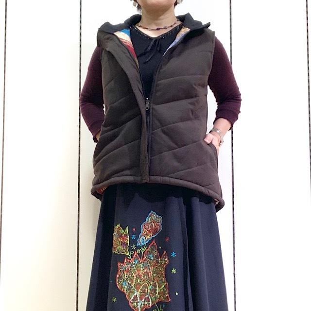 HOBR-003 サリーキルティングHAORI 茶M