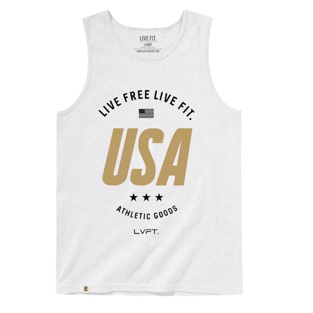 LIVE FIT Live Free Tank - White