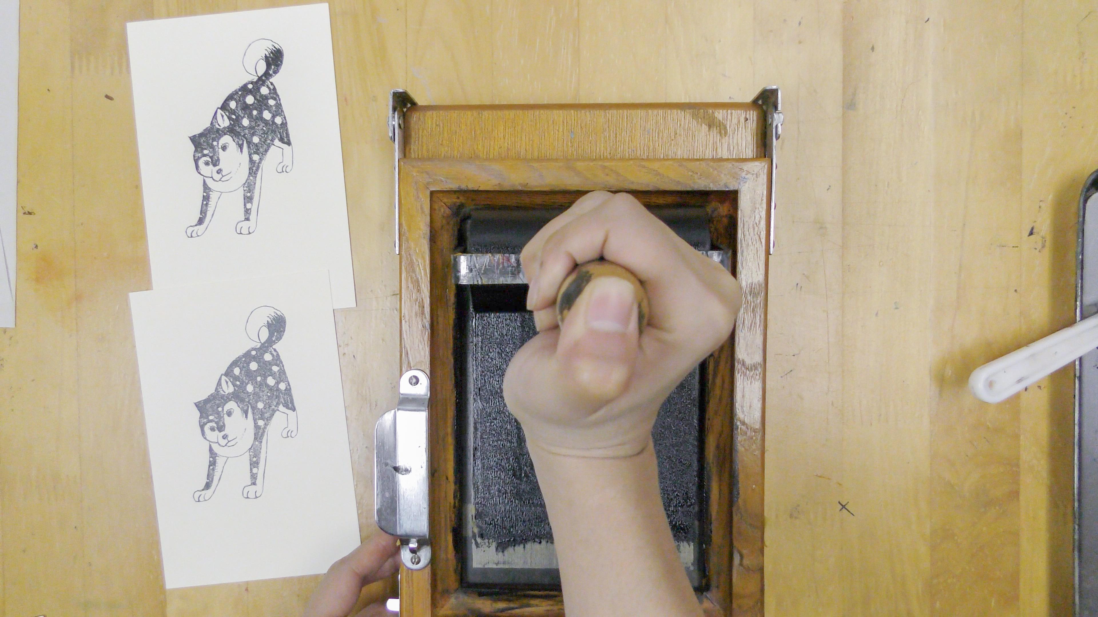 毎年恒例☆はじめての謄写版体験「年賀状を刷ろう」(一版1色刷り)