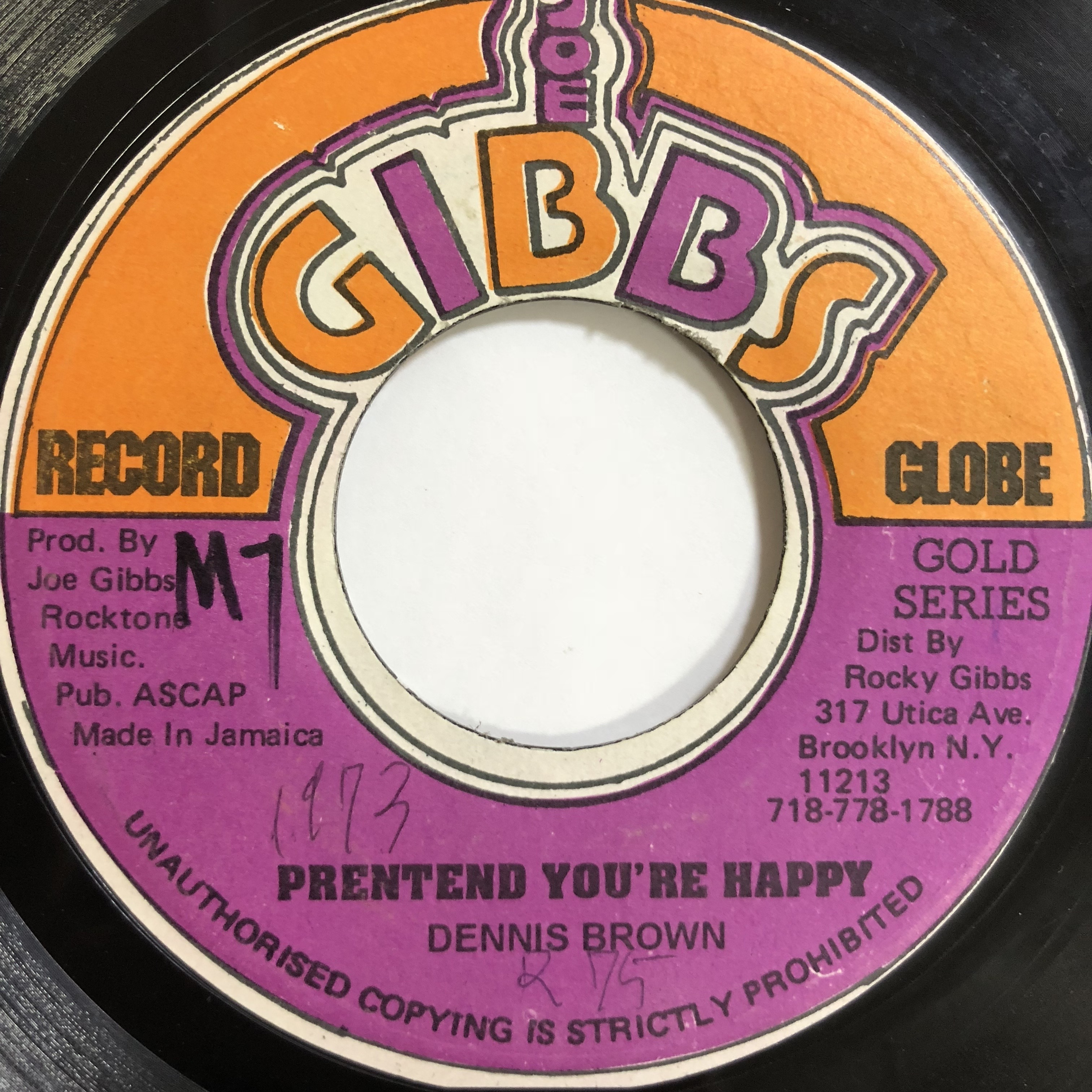 Dennis Brown(デニスブラウン) - Pretend You're Happy【7'】