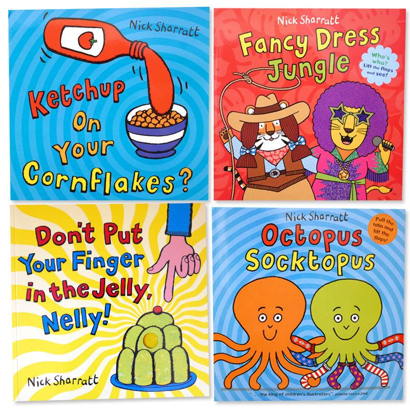 英語で笑って遊ぼう!「Nick Sharratt」4冊セット