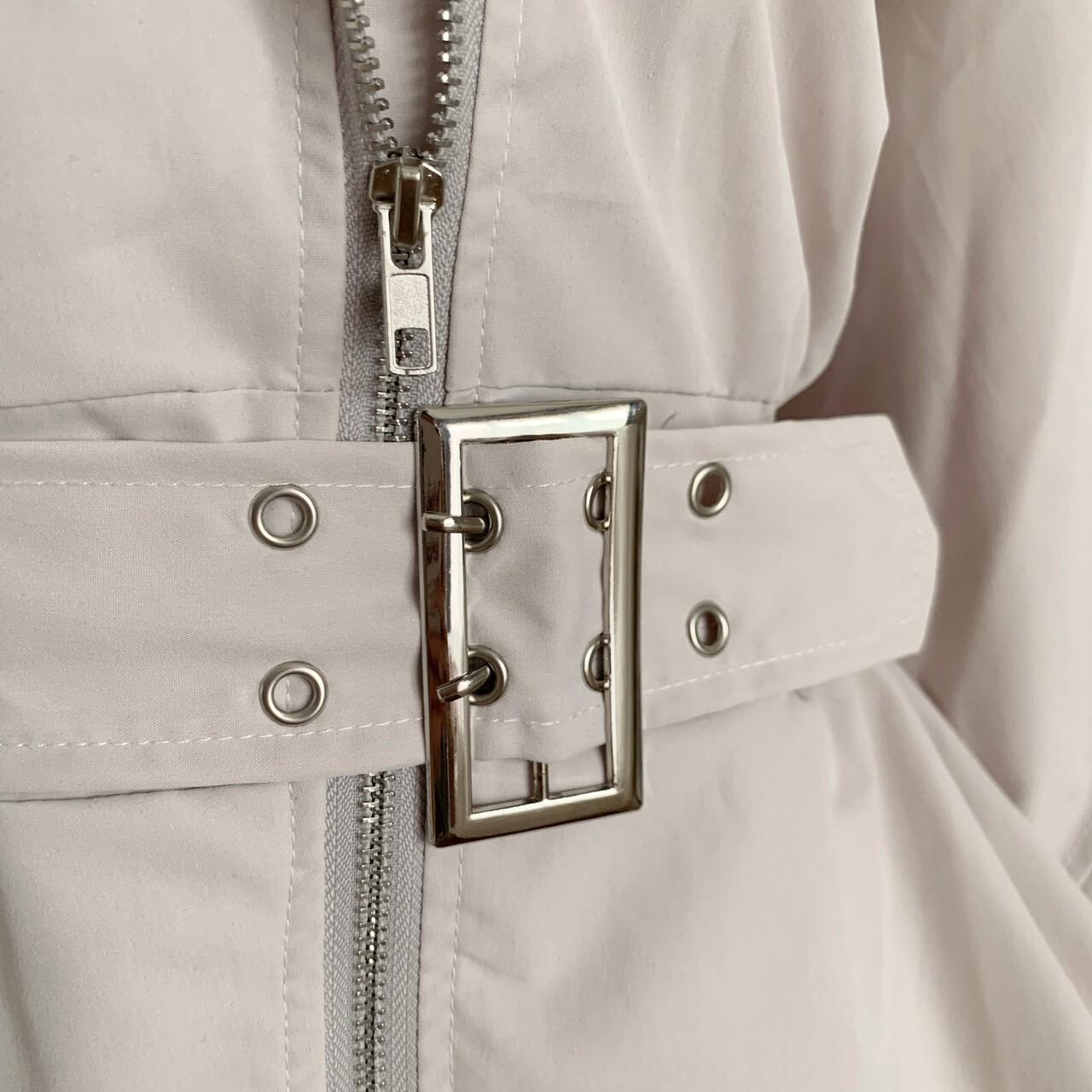 【meltie】puff sleeve belt jacket