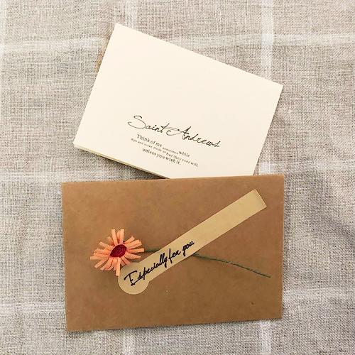 ★手書きでメッセージを書いて商品と一緒にお届けします。★オリジナルメッセージカード