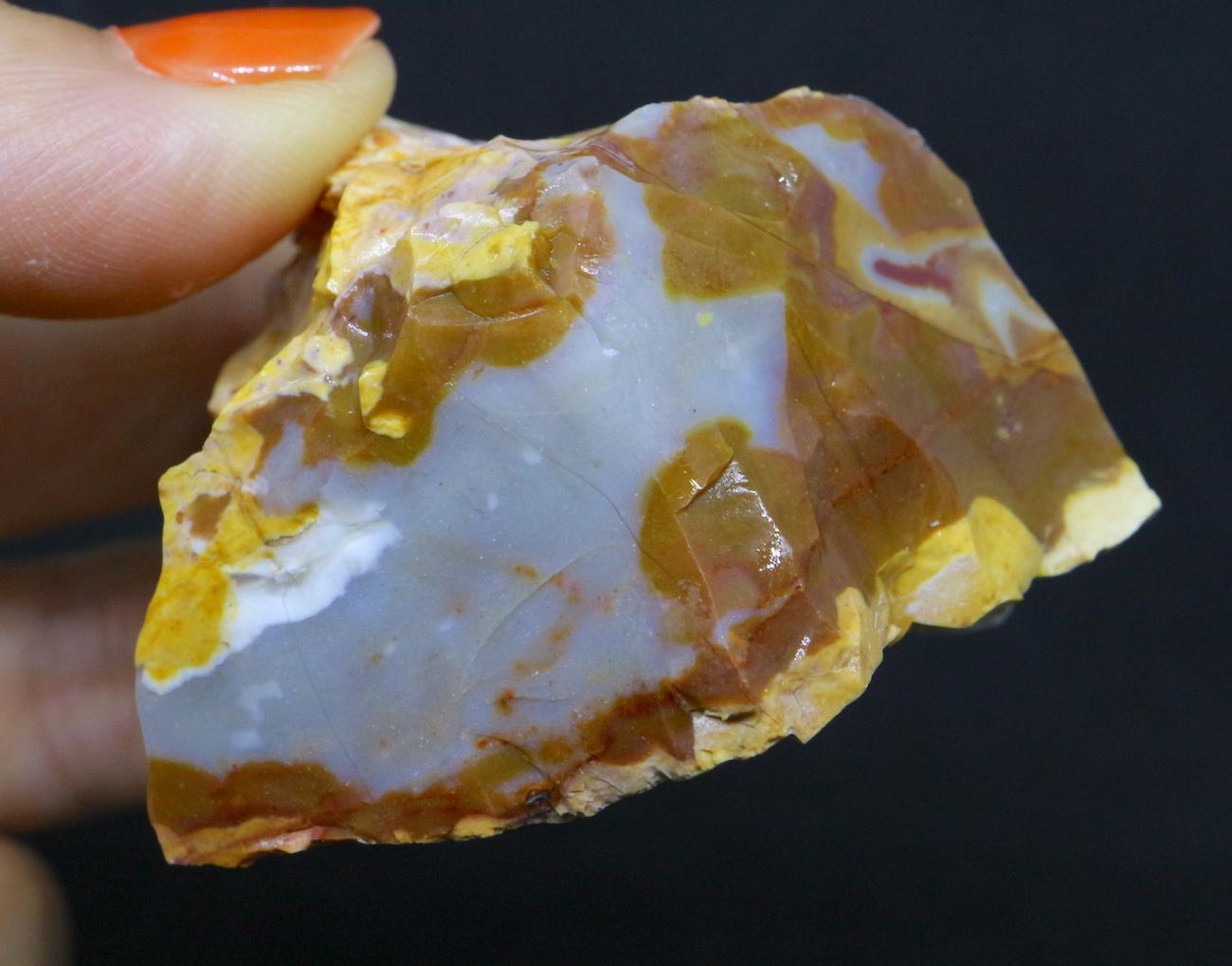 レインボー カルセドニー 92,3g RCD007 玉髄 鉱物 原石 天然石 パワーストーン