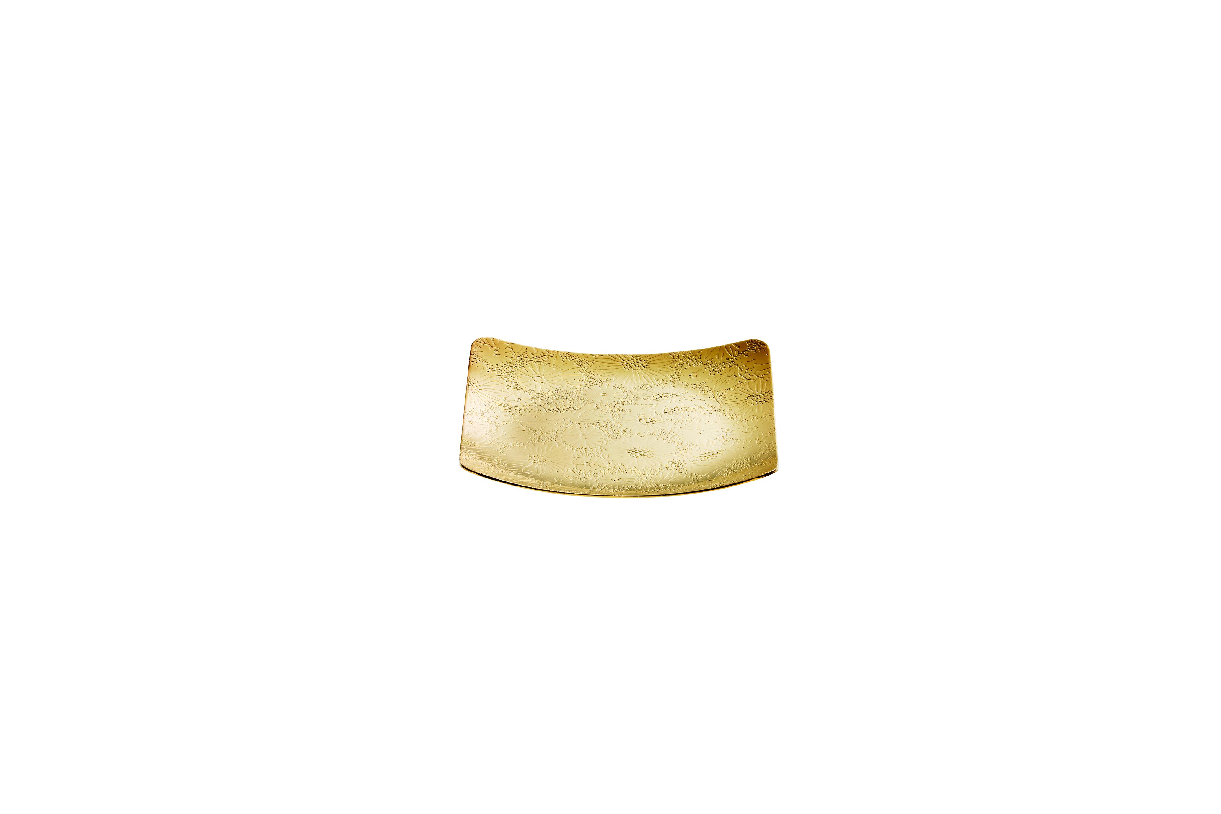 菊コースター(小)ゴールド