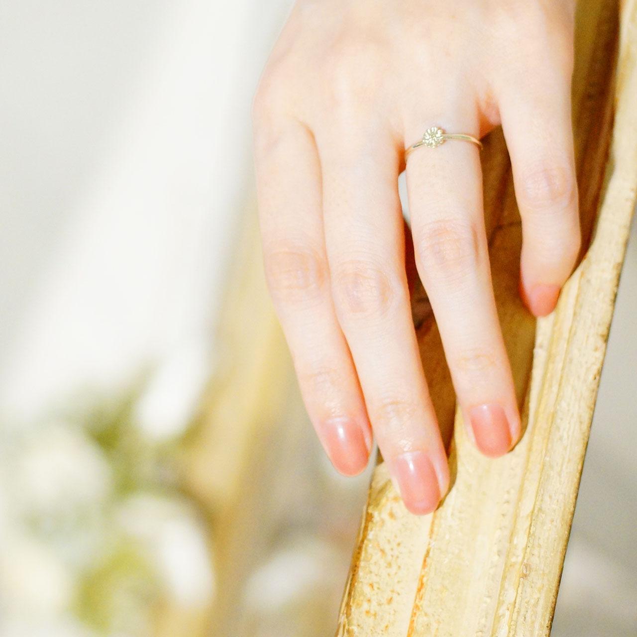 K10WG / リング / Daisy melee diamond ring