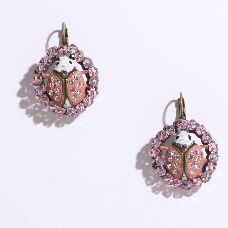 Carousel earring stud dangllng ピアス てんとう虫2