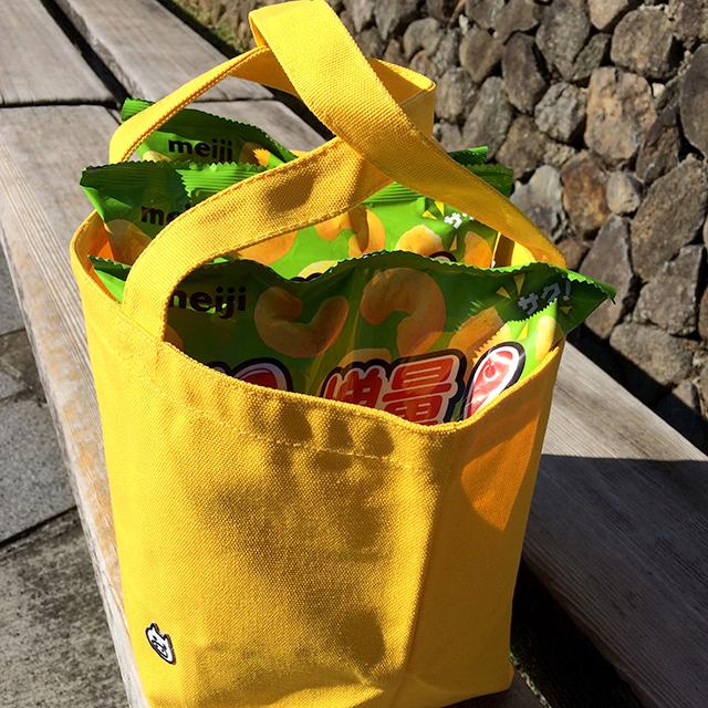 【送料100円!】けっこう入るおでかけバッグ【イエロー】 - 画像2