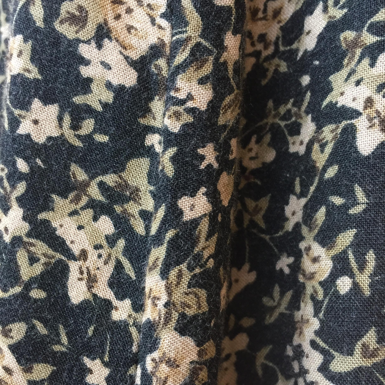 vintage button rayon skirt