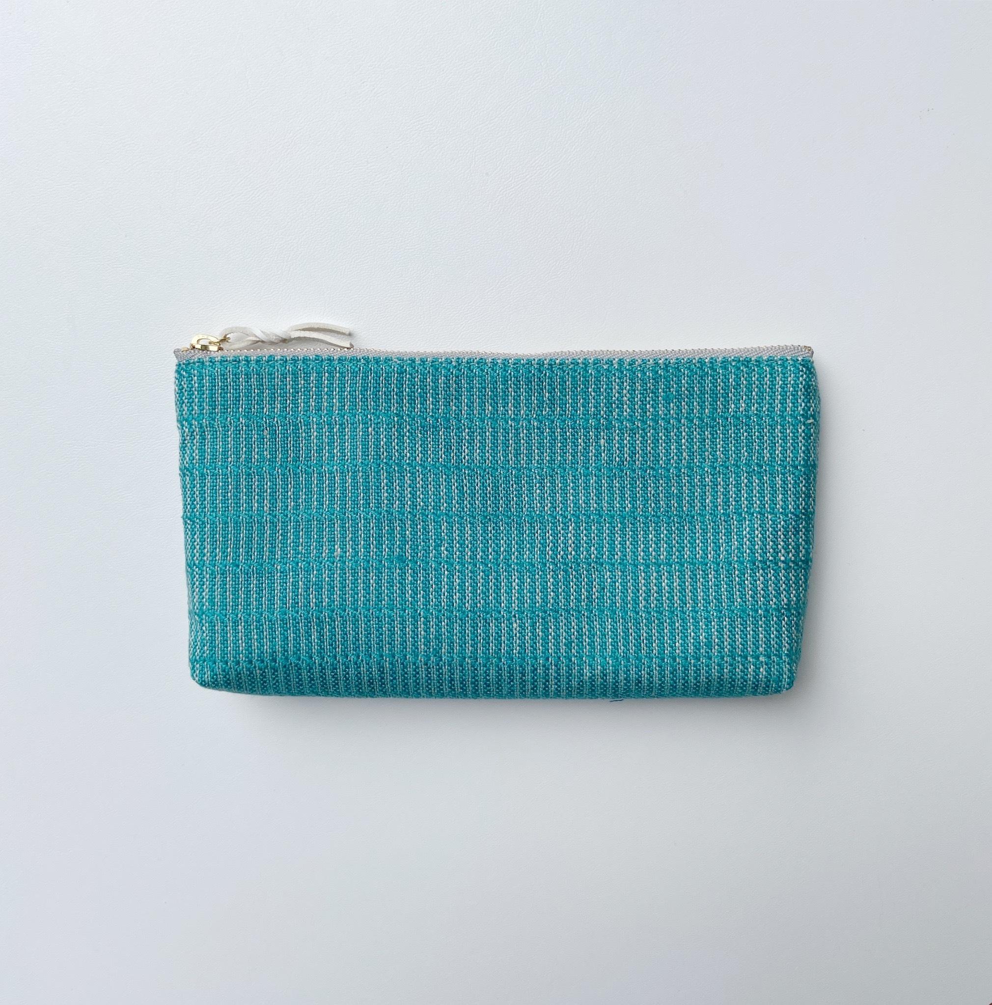手織りロングケース(Long case Turquoise blue Alinea)