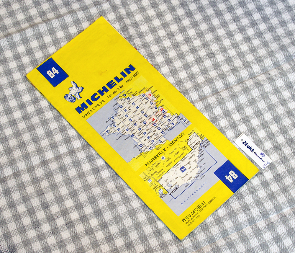 【Vintage/Used品】1985 MICHELIN MAP No.84 フランス南東部 MARSEILLE-MENTON /0114
