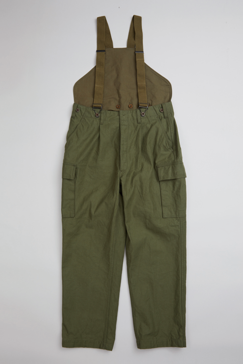 ジャーマンアーミーサスペンダーパンツ / GERMAN ARMY SUSPENDER PANT - VINTAGE DRILL + SUSPENDER