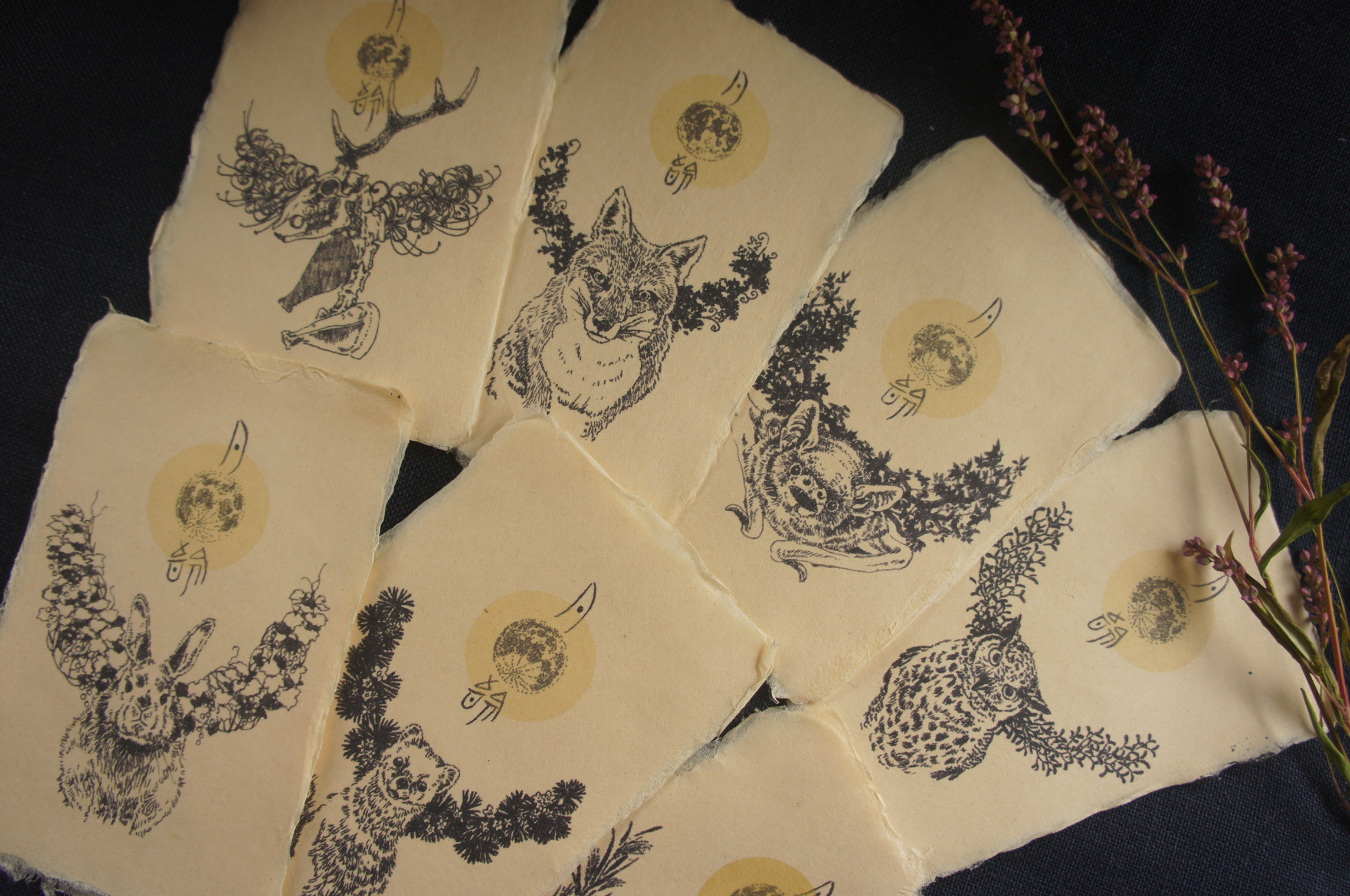 「月齢」イラストカード 7種セット