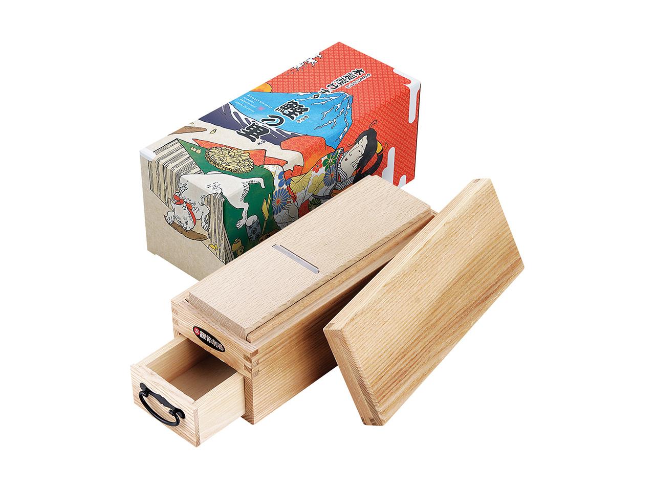 鰹節削り器 「鰹箱 鰹の里」 すべり止めシール付(shop限定セット)