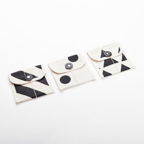 multi card case/black x stripe, scale, dot マルチカードケース / 墨 x 縞・鱗・水玉