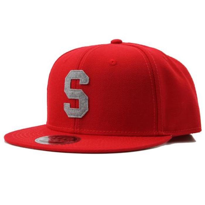 LETTER SNAPBACK CAP #BLACK X WHITE
