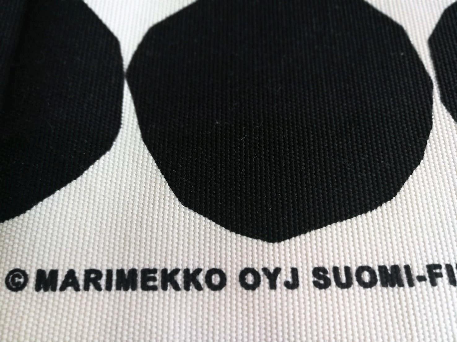 ハギレ / マリメッコ / Kivet  / WHxBK (56x54cm)