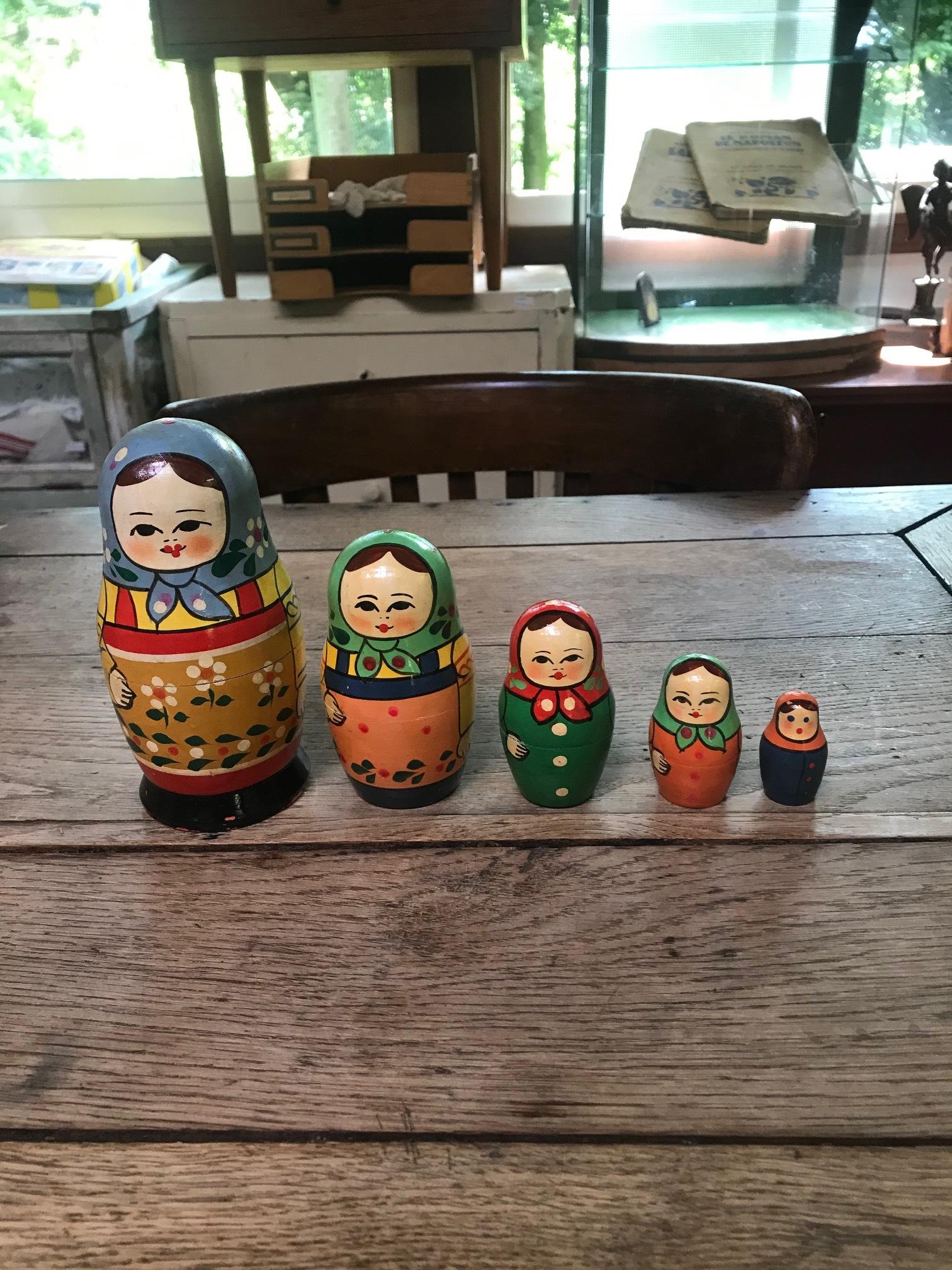ロシア民芸 ヴィンテージ マトリョーシカ 人形 D
