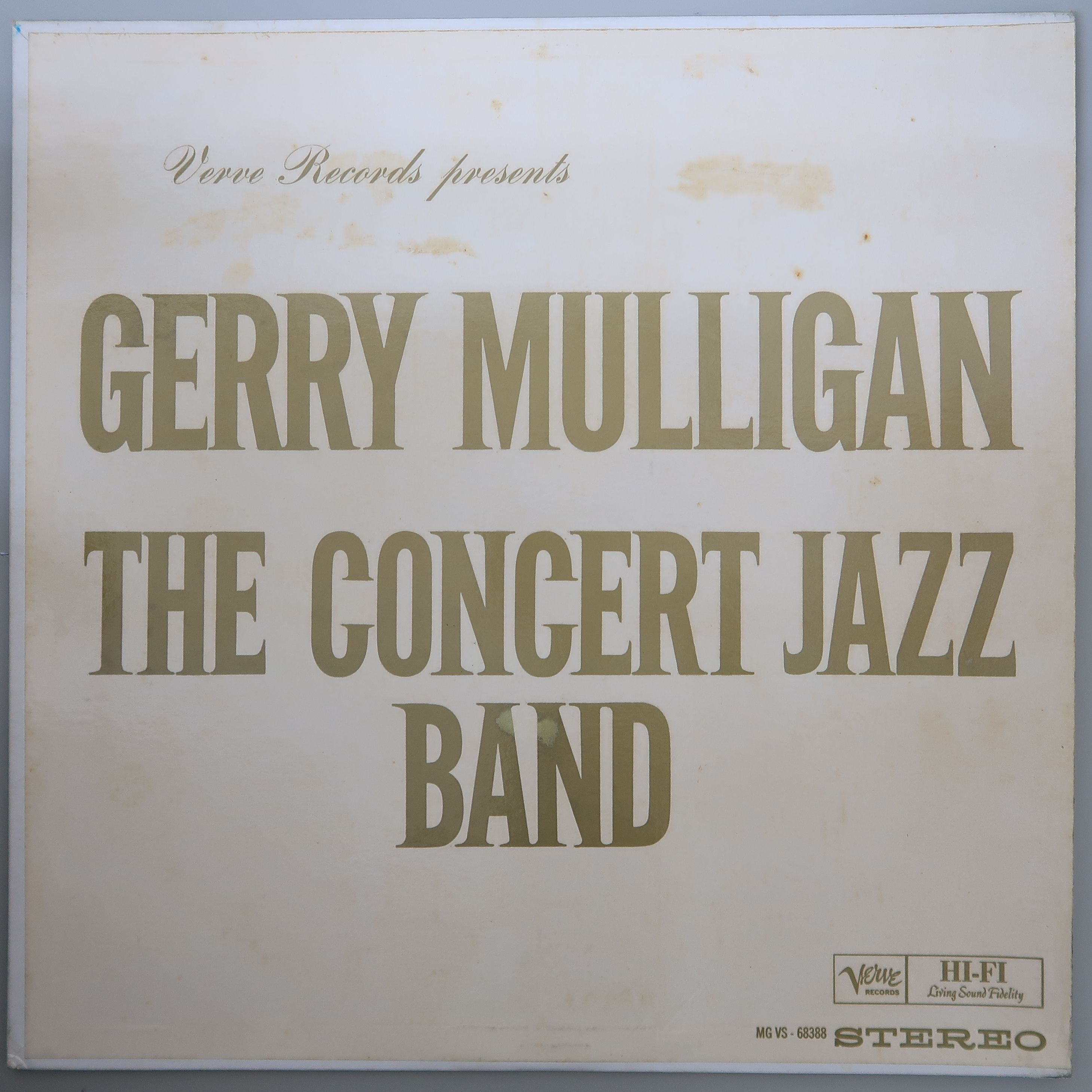 GERRY MULLIGAN / THE CONCERT JAZZ BAND 米オリジナル