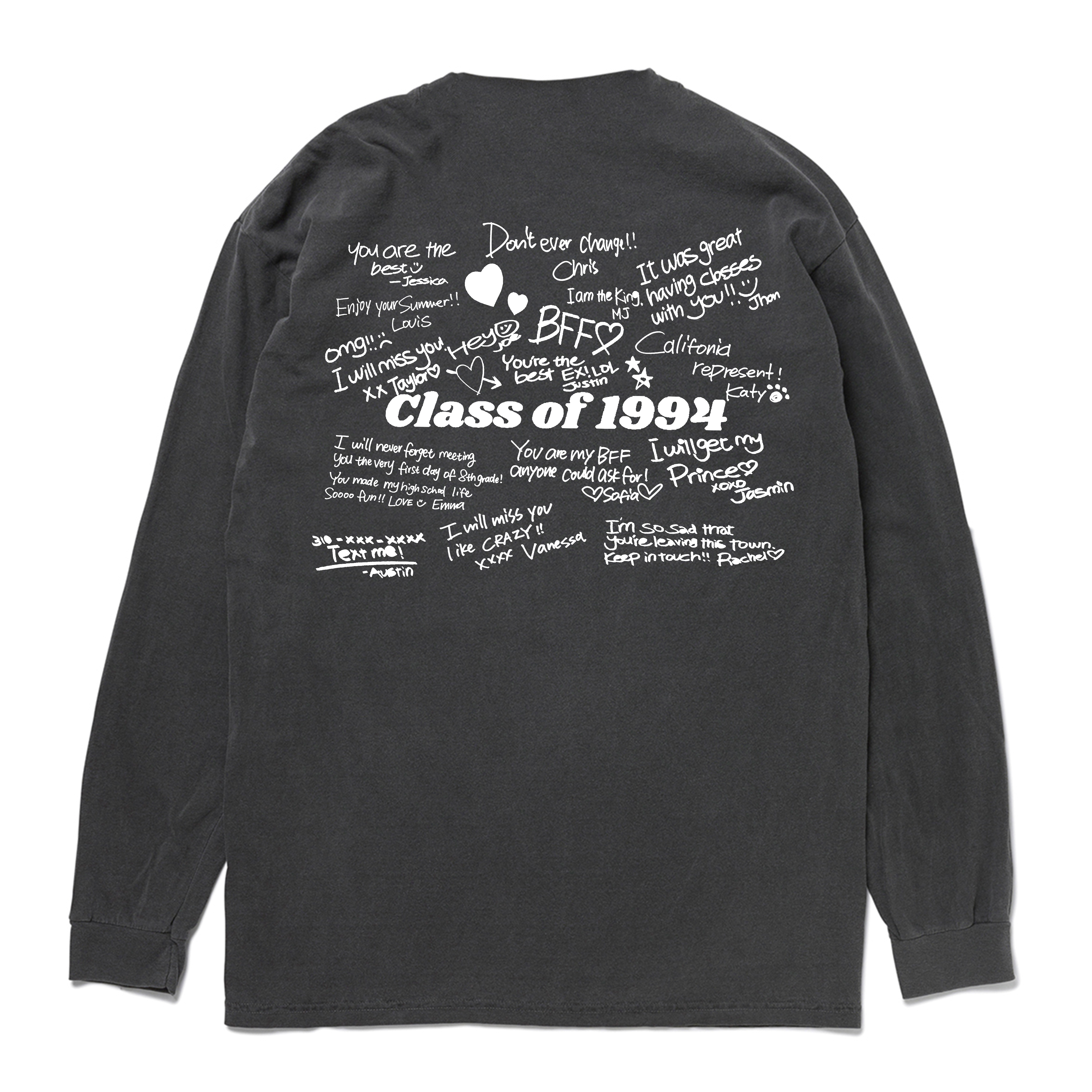 Class of 1994 Yearbook Vintage Long Sleeve