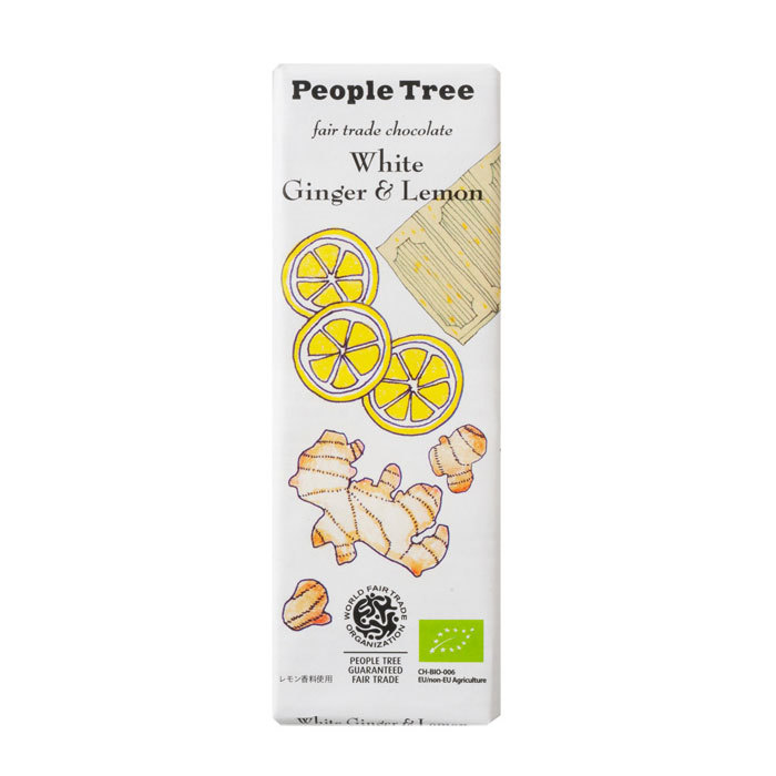 People Tree フェアトレードチョコ オーガニック ホワイト ジンジャー&レモン ピープルツリー