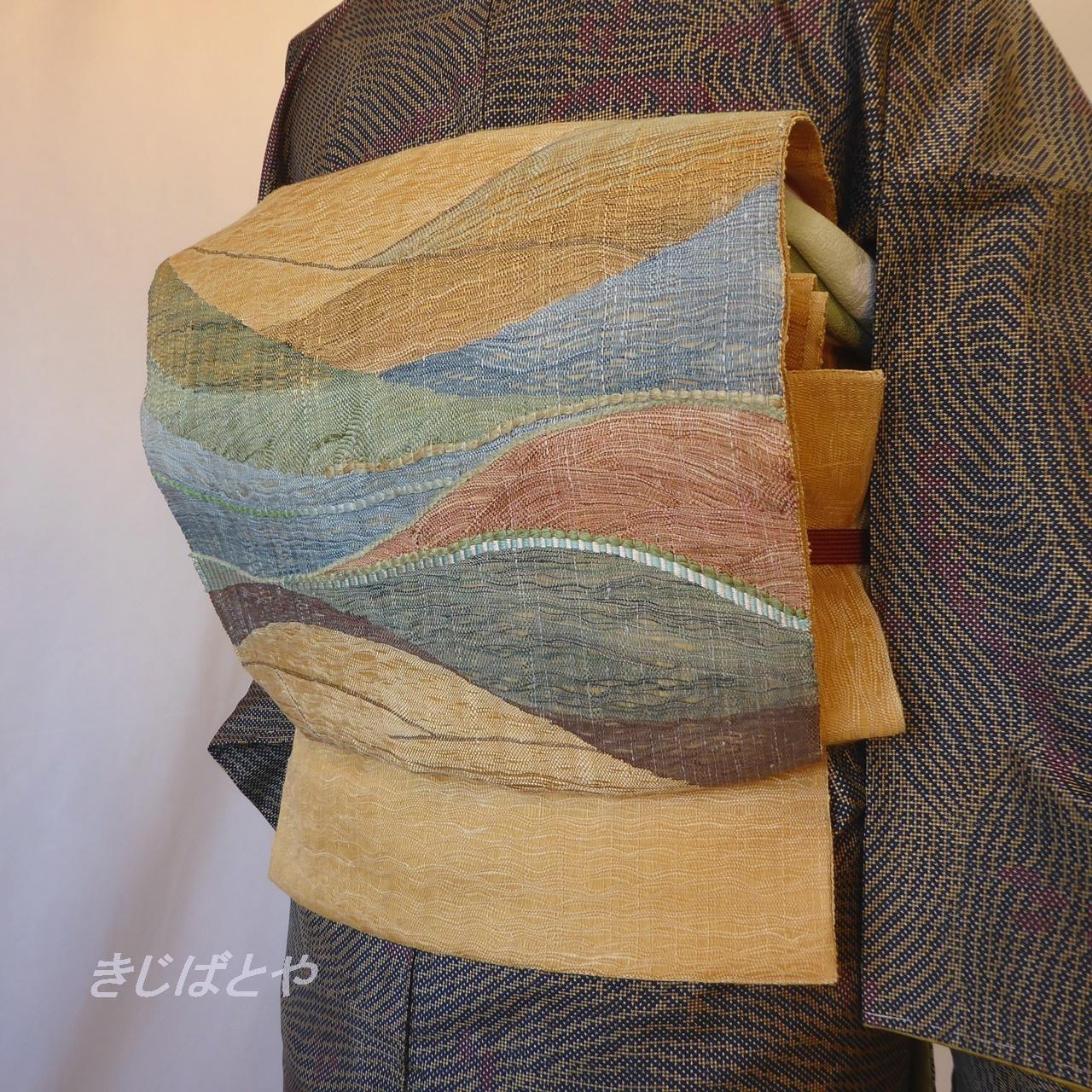 正絹 玉蜀黍色の袋帯