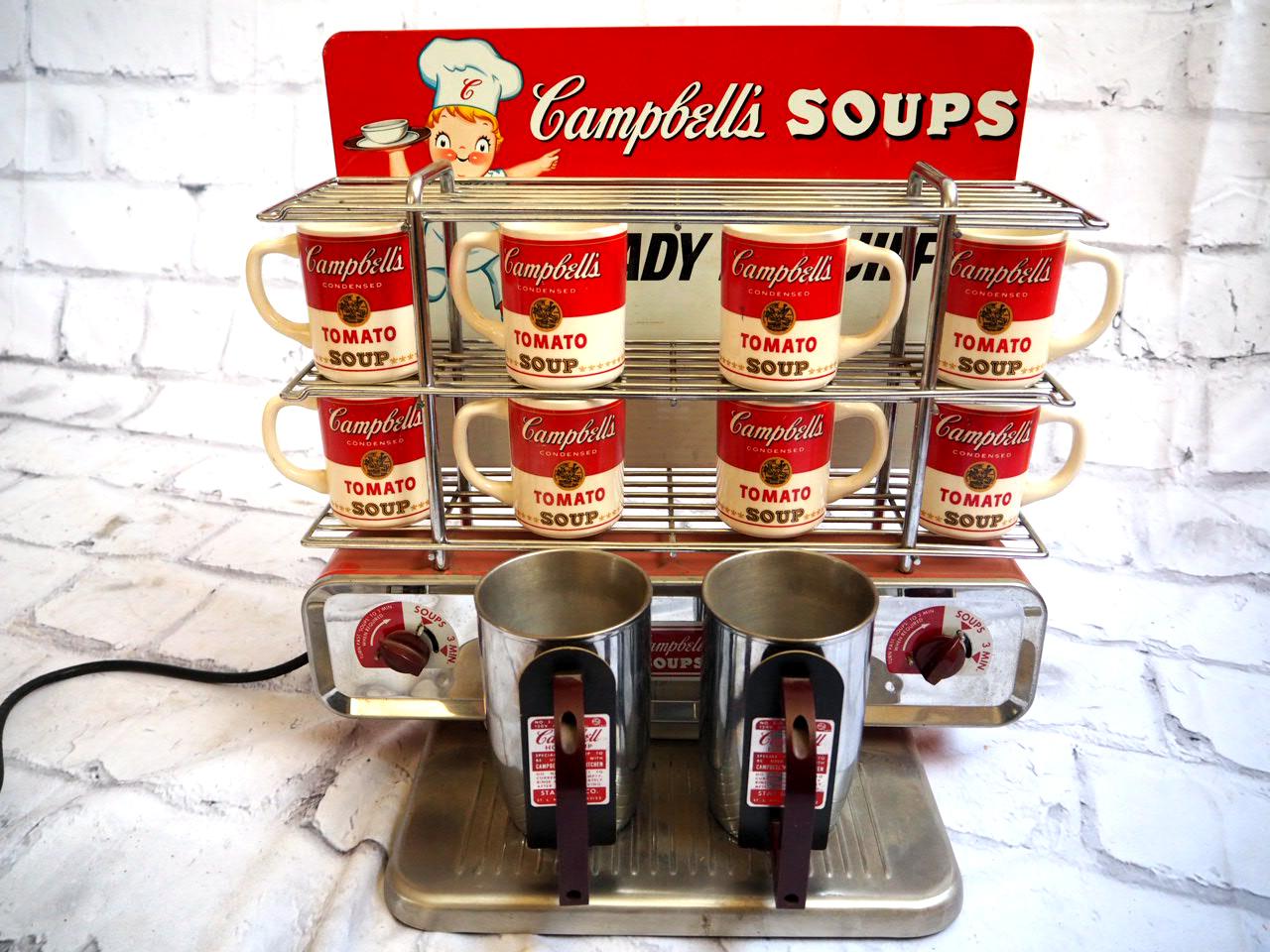 品番1537 Campbell's soups キャンベル ポットセット スープウォーマー マグカップ付 アメリカン ヴィンテージ