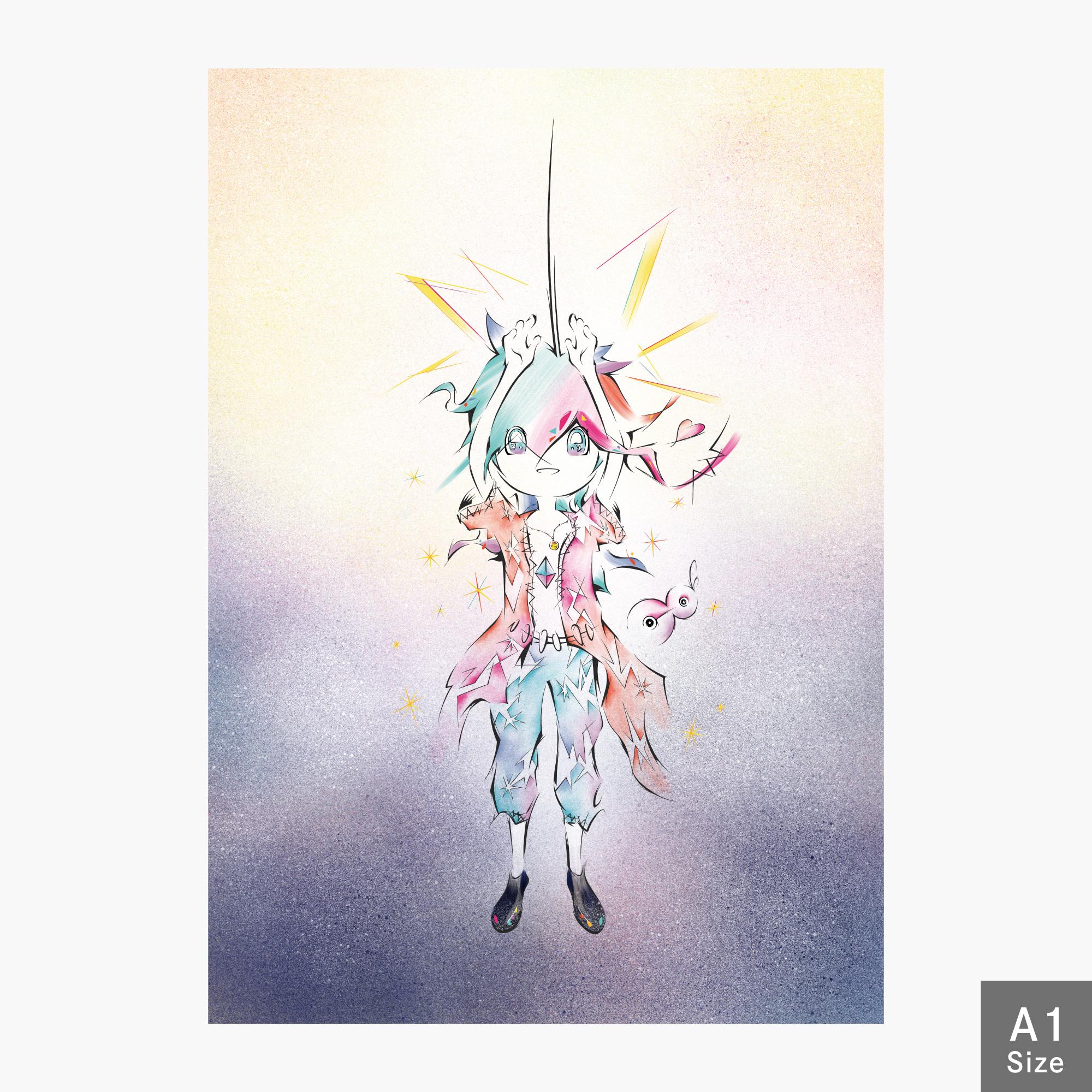 【A1 ジークレー版画】 心の声に意識を集中 【受注生産】