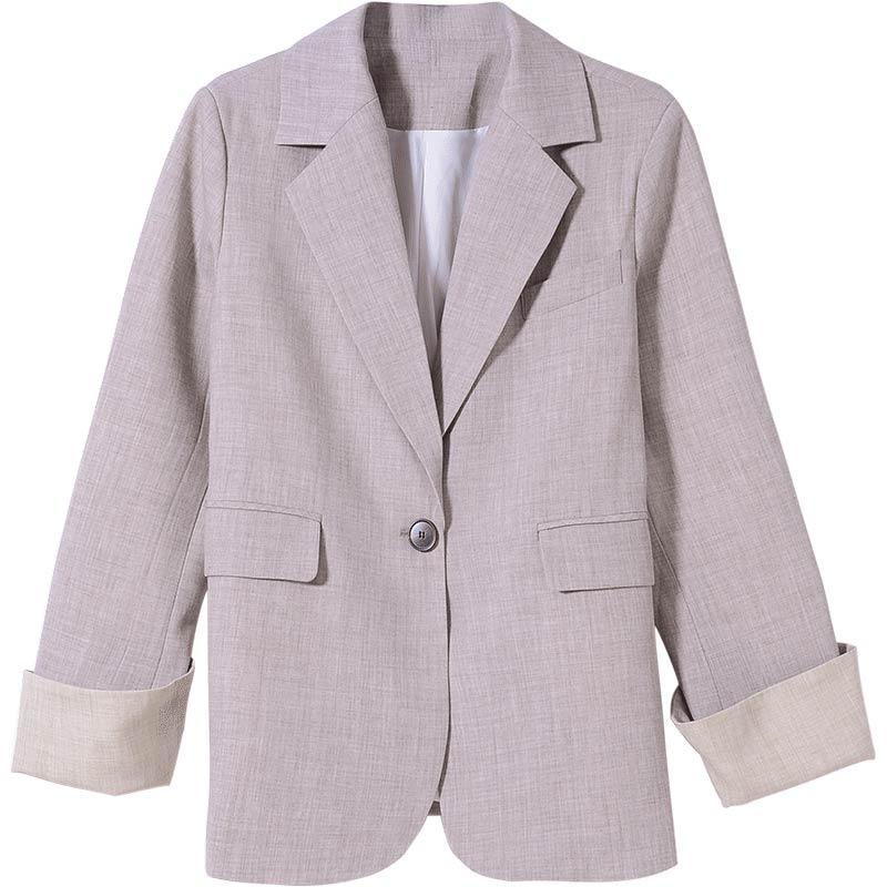 ロールドカフススーツコート
