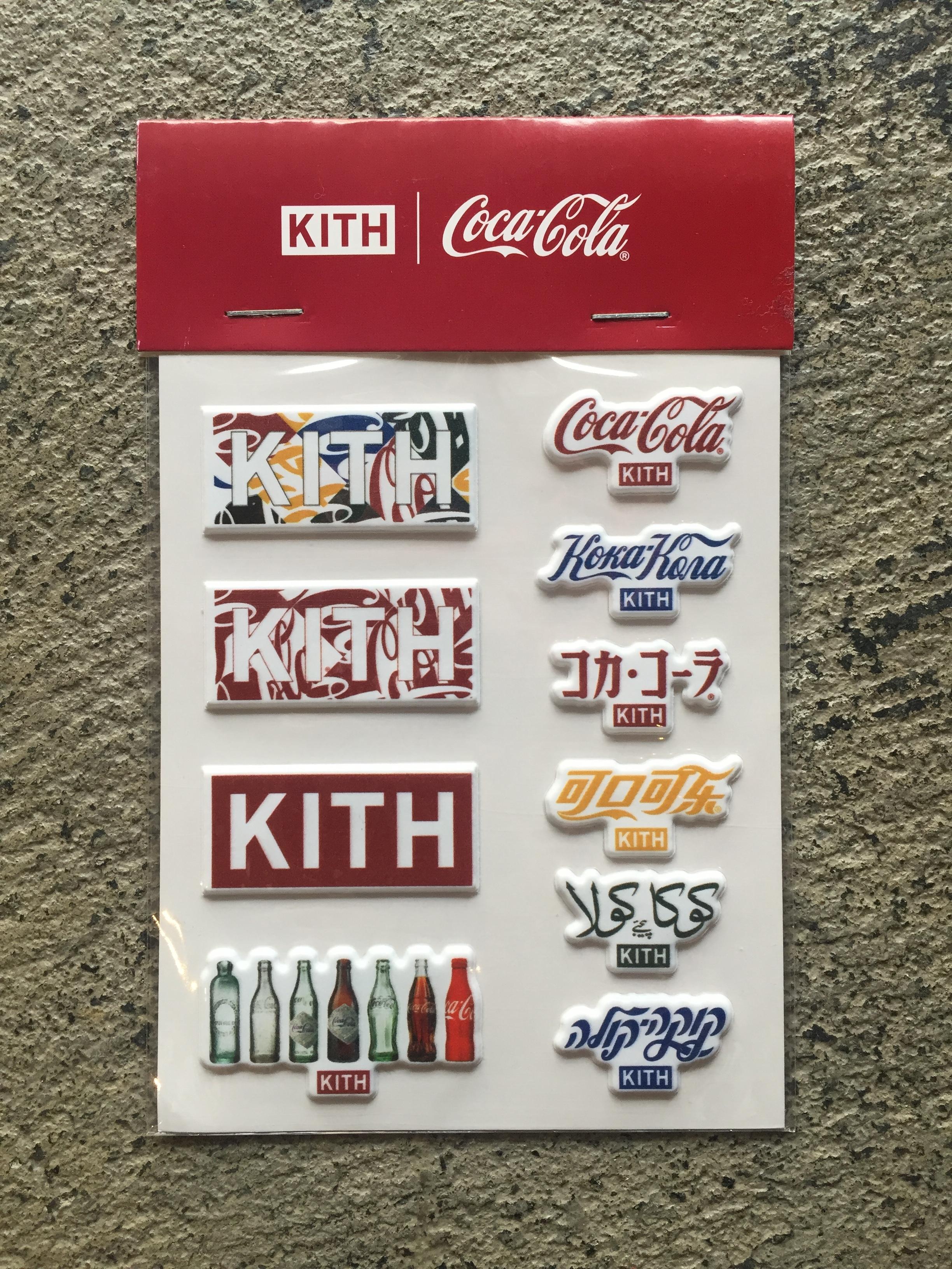 Kith x Coca Cola Sticker Pack