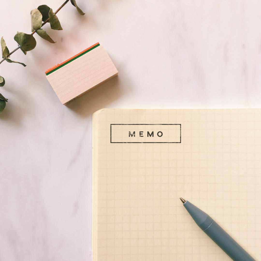 MEMO スタンプ