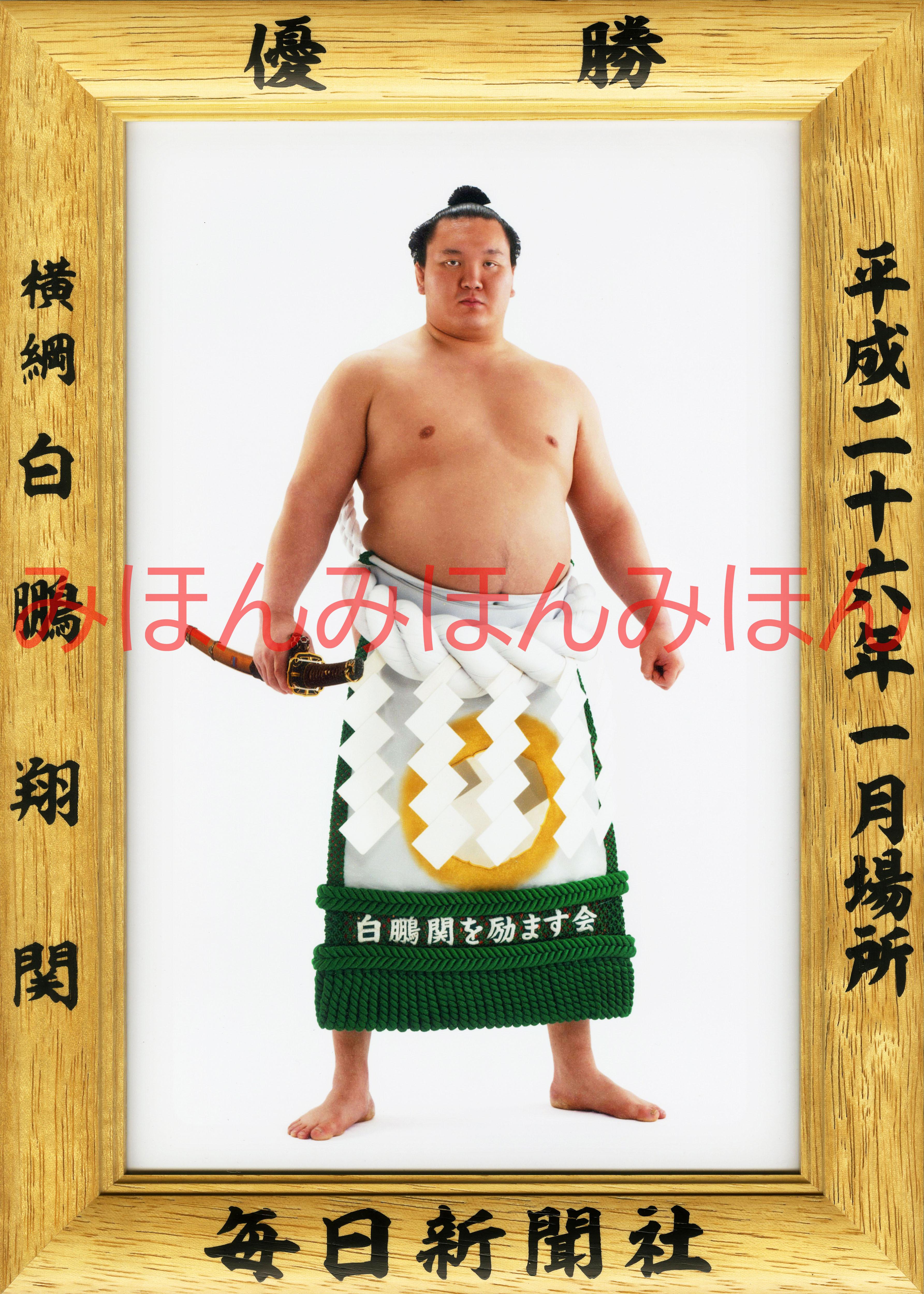 平成26年1月場所優勝 横綱 白鵬翔関(28回目の優勝)
