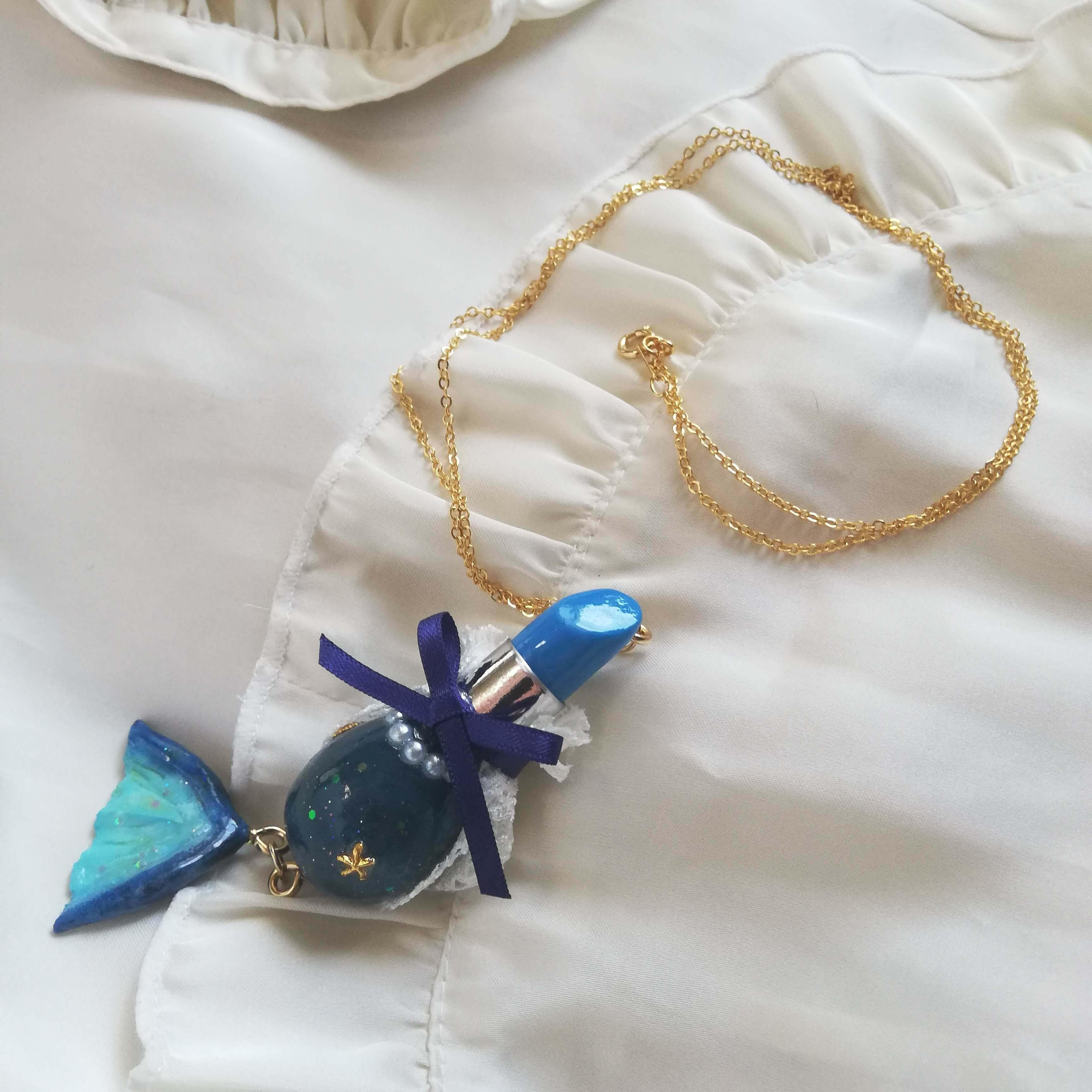 童話リップ〜赤ずきん〜バッグチャーム/ネックレス