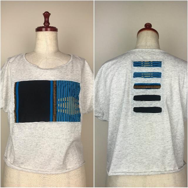 パッチワークドルマンTシャツ09