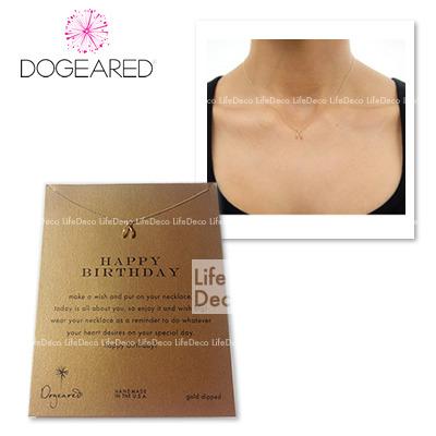 Dogeared ドギャード  make a wish reminder ネックレス Original Wishbone (Happy Birthday) ゴールド