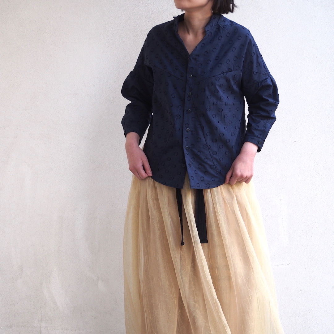 【ethical hippi】shirt jacket(navy) / 【エシカル ヒッピ】シャツ ジャケット(ネービー)