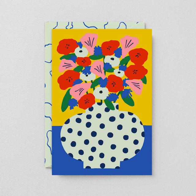 WRAP / FLOWERS ART CARD -Artwork by Karl-Joel Larsson- アートカード