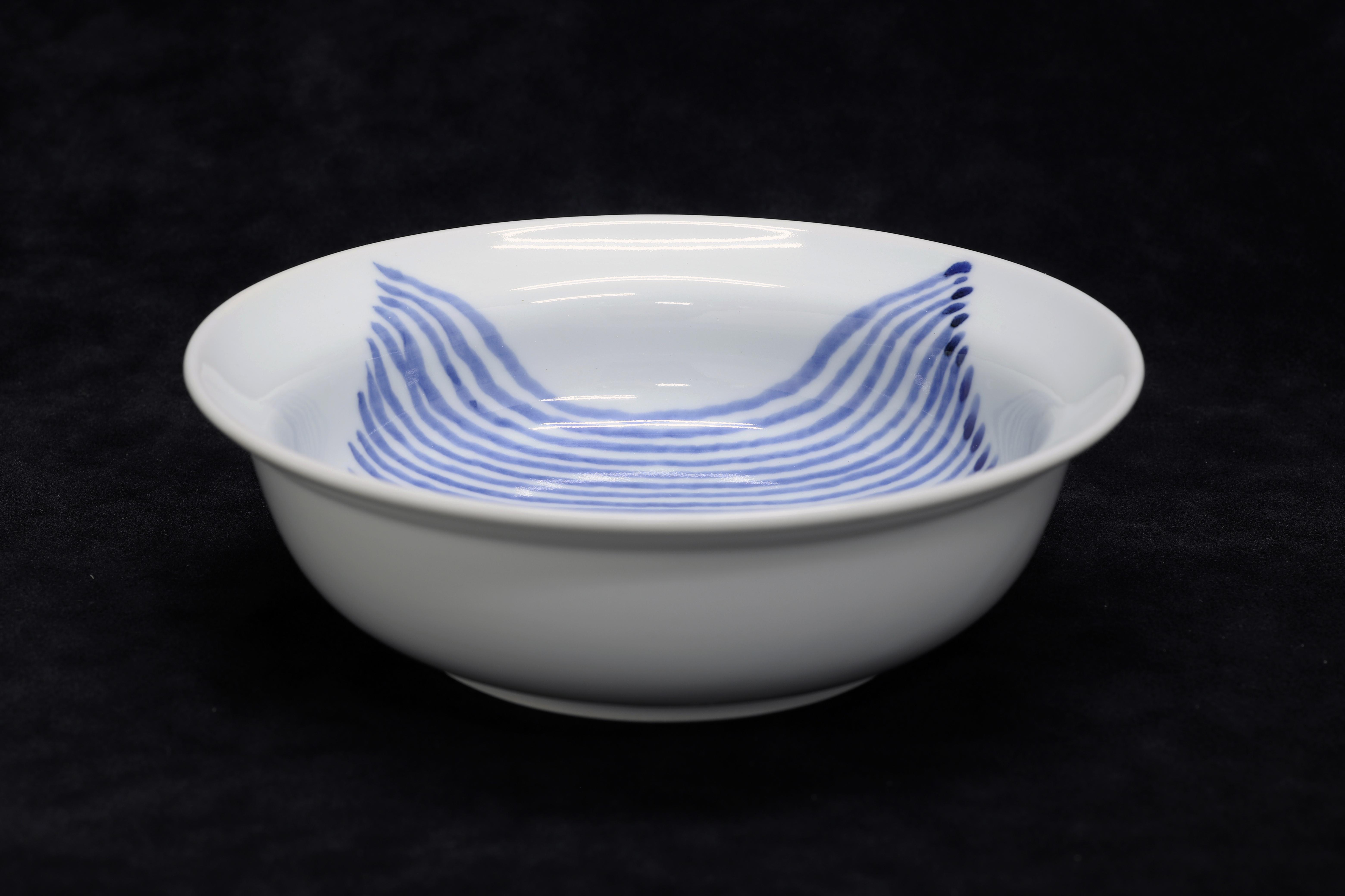 麻布手 スープ碗 作:井手國博・与志郎窯(有田焼)