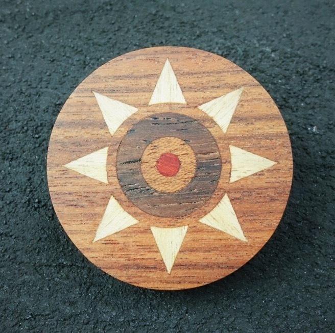 wooden inlaid charm IB-013-BG