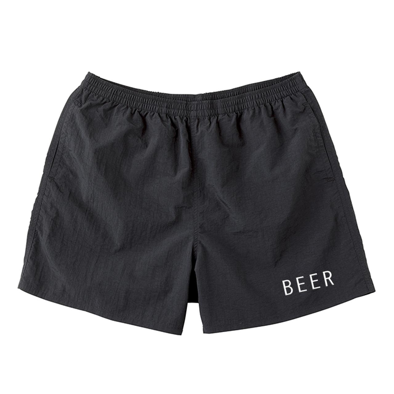 BEER ナイロンショートパンツ