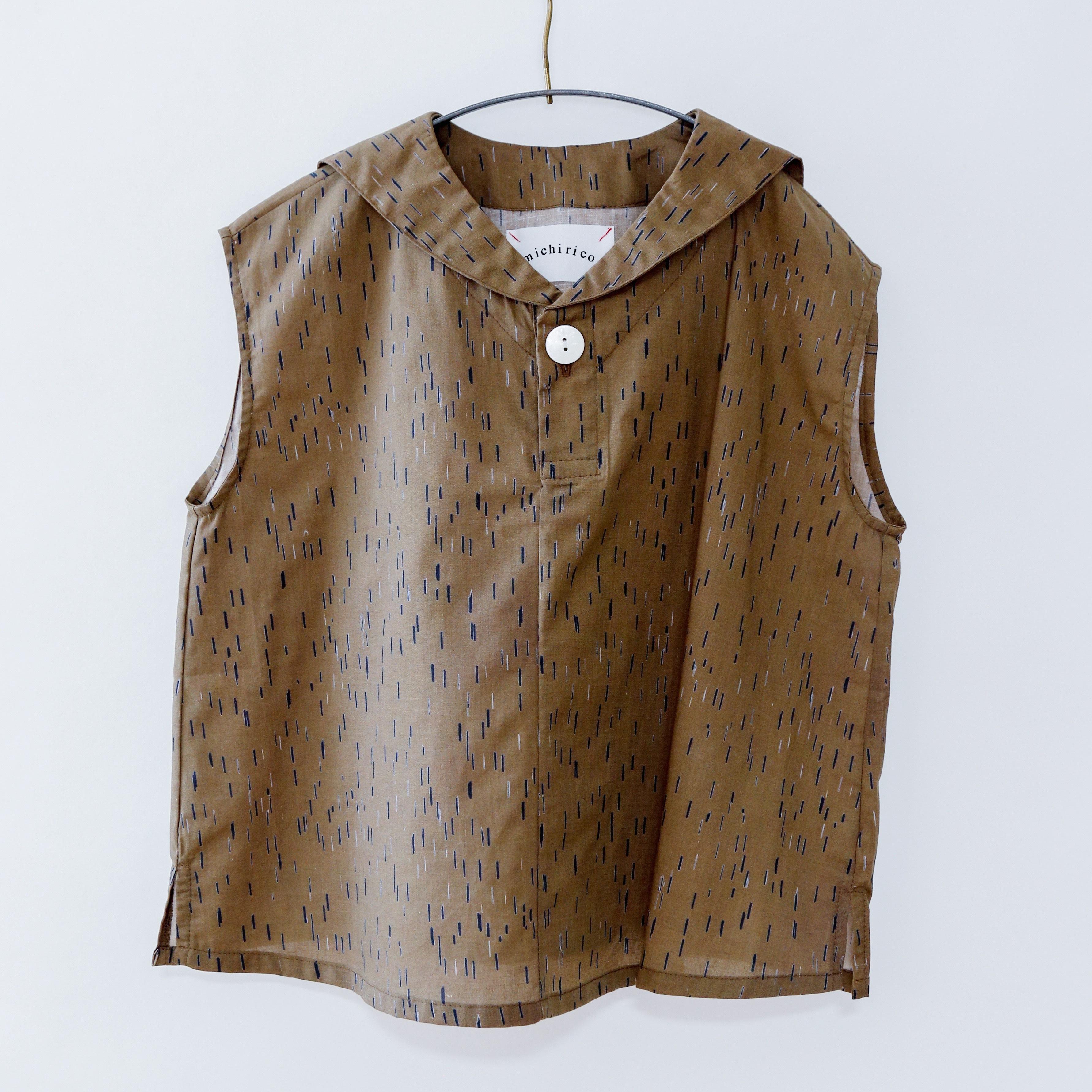 《michirico 2020SS》Sailor shirt / mocha / L・XL・XXL