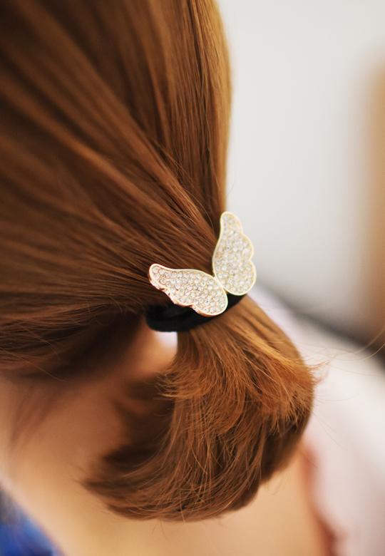 キラキラ天使の羽 シンプルヘアゴム