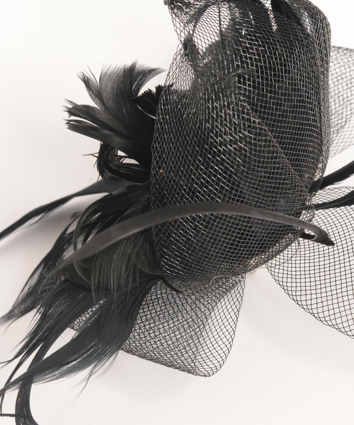 Joe19AW-24 feather design headdress (black)