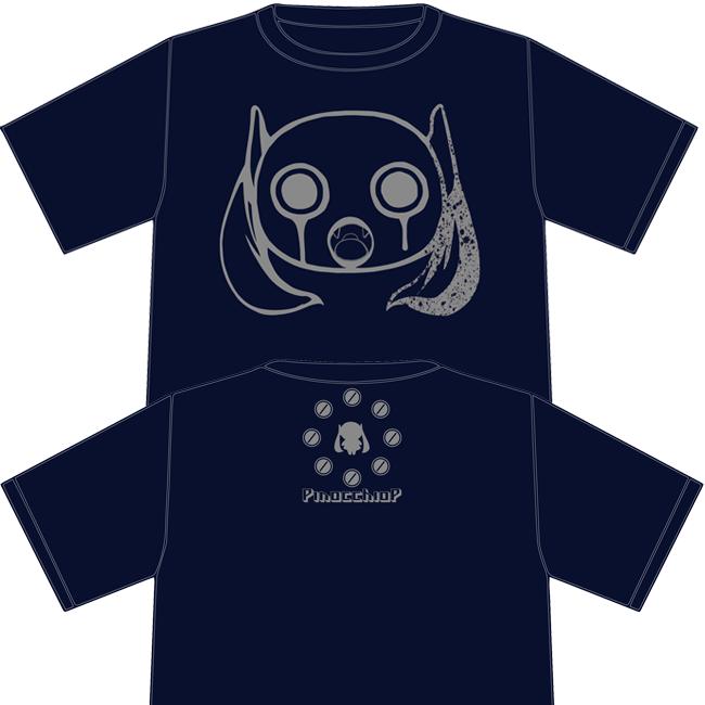 ピノキオピー 14/15 冬の半袖Tシャツ:ネイビー - 画像1