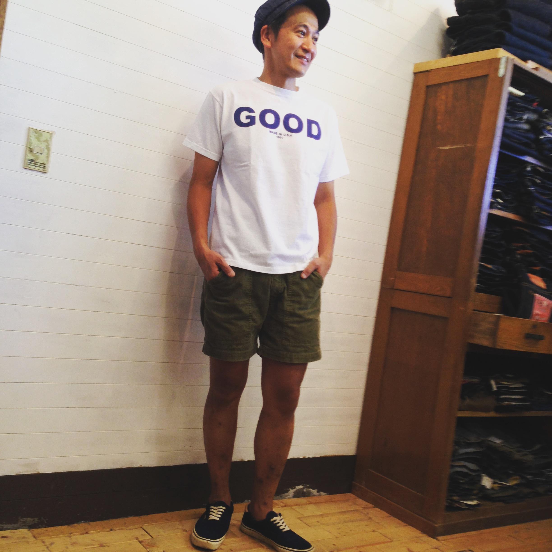 """Good On(グッドオン)S/S """"GOOD ON"""" LOGO T/""""GOOD ON"""" ロゴTシャツ  WHITE/NAVY"""