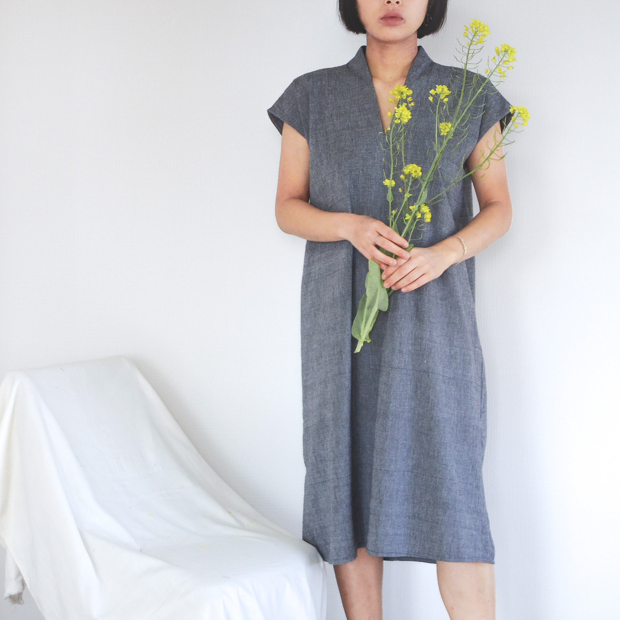 Yukata Dress / Gray
