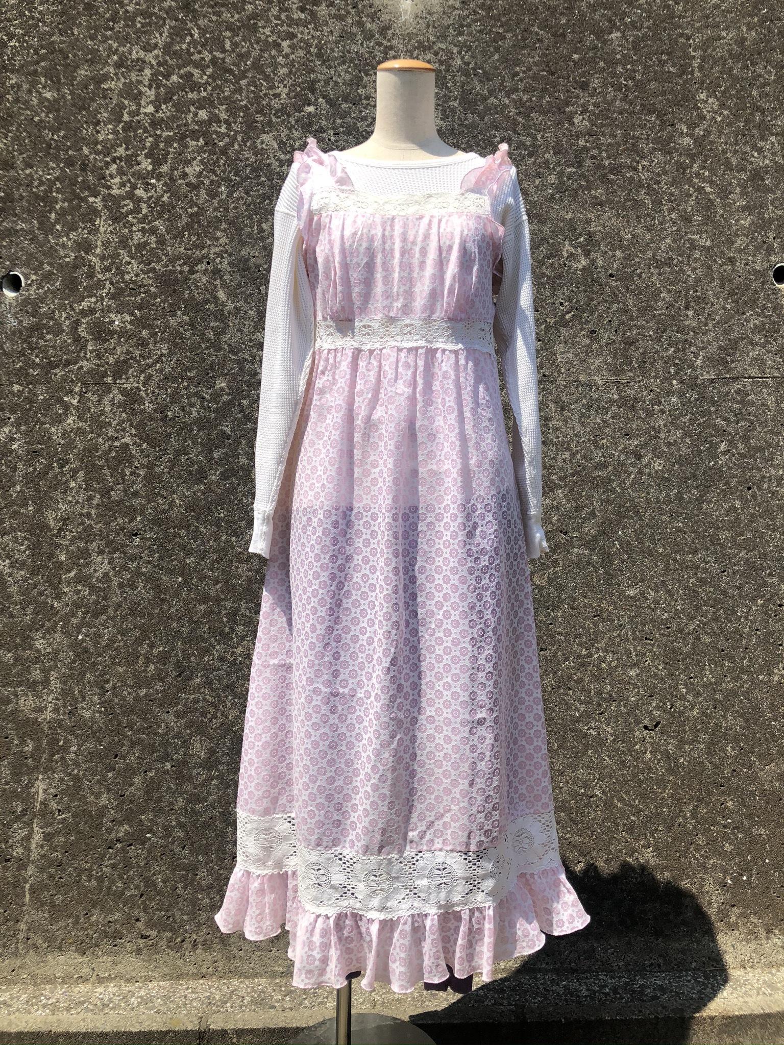 frill flower printed dress